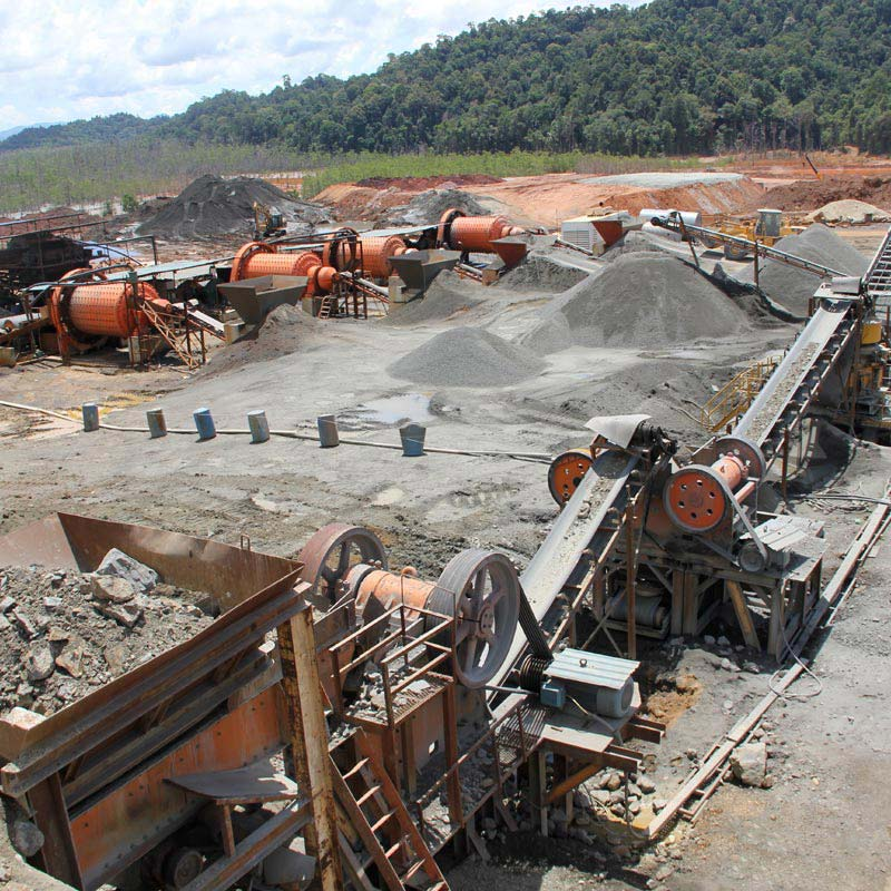Ore beneficiation production line