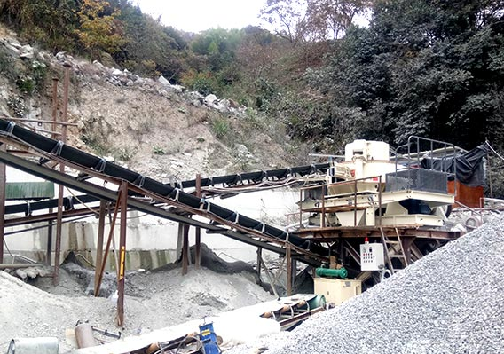 150T/H sand shaping machine for quarry in Indonesia