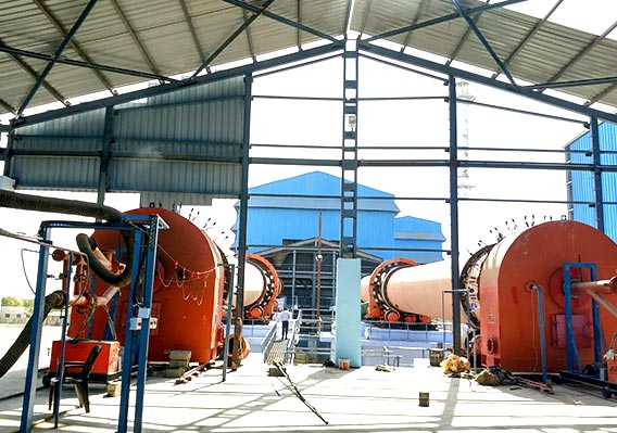 Sawdust processed by 30t/h rotary dryer